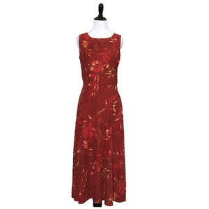 Beautiful red silk sleeveless dress